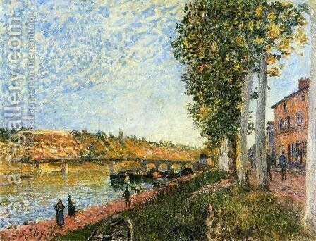 Sunrise at Saint-Mammes by Alfred Sisley - Reproduction Oil Painting