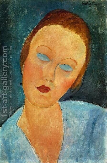 Portrait of Madame Survage by Amedeo Modigliani - Reproduction Oil Painting