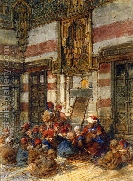 The Arab School by Guido Bach - Reproduction Oil Painting