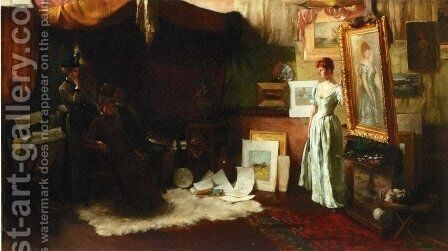 Fair Critics by Charles Curran - Reproduction Oil Painting