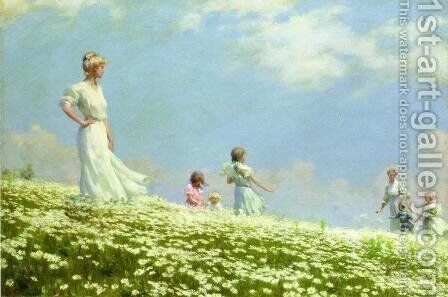 Summer by Charles Curran - Reproduction Oil Painting