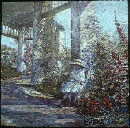 Little Girl in the Garden by Anna Boch - Reproduction Oil Painting