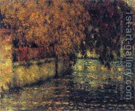 The Wall, Autumn by Henri Eugene Augustin Le Sidaner - Reproduction Oil Painting