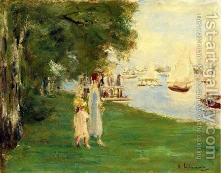 Strolling by the by Max Liebermann - Reproduction Oil Painting