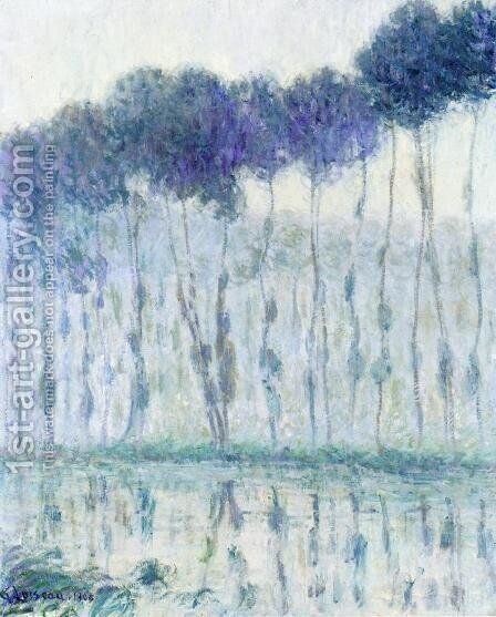 Poplars on the Banks of the Eure by Gustave Loiseau - Reproduction Oil Painting