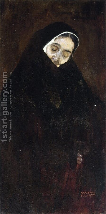 Old Woman by Gustav Klimt - Reproduction Oil Painting