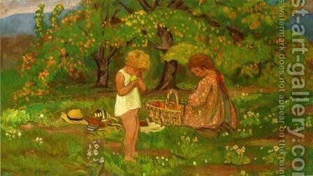 The Afternoon Snack by Henri Lebasque - Reproduction Oil Painting