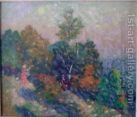 Summer Moon Rising by Elisha Kent Kane Wetherill - Reproduction Oil Painting