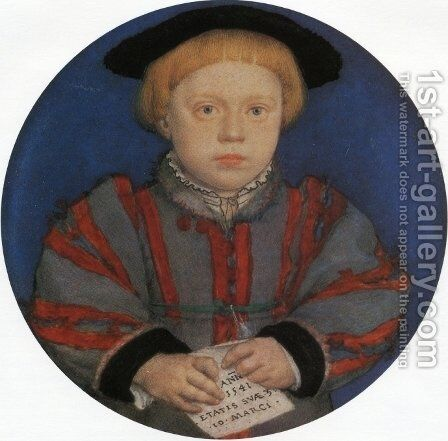Portraito of Henry Brandon by Hans, the Younger Holbein - Reproduction Oil Painting