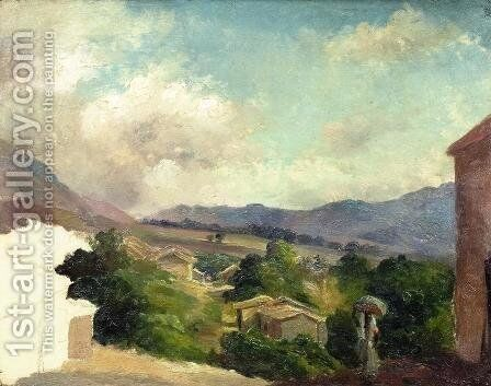 Mountain Landscape at Saint Thomas, Antilles (unfinished) by Camille Pissarro - Reproduction Oil Painting