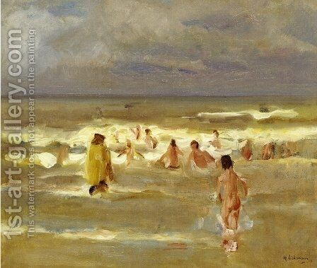Bathing Boys by Max Liebermann - Reproduction Oil Painting