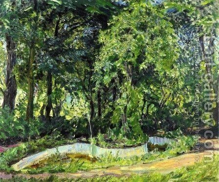 Park Landscape in the Palatinate by Max Slevogt - Reproduction Oil Painting