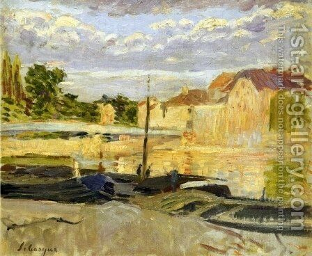 The Banks of the Marne at Lagny by Henri Lebasque - Reproduction Oil Painting