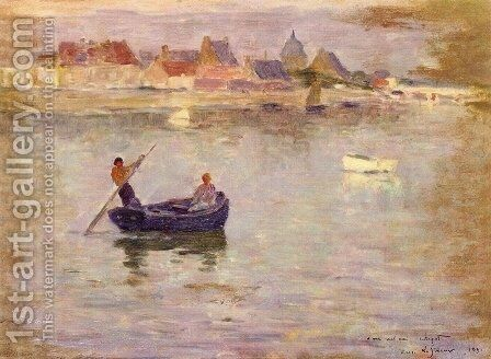 Boat Ride by Henri Eugene Augustin Le Sidaner - Reproduction Oil Painting