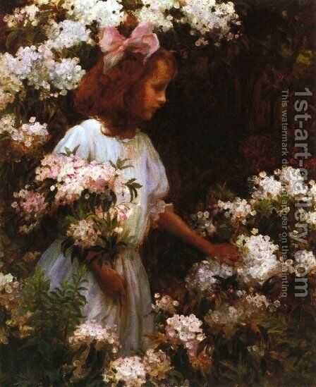 Jane Huntington McKelvey by Charles Curran - Reproduction Oil Painting