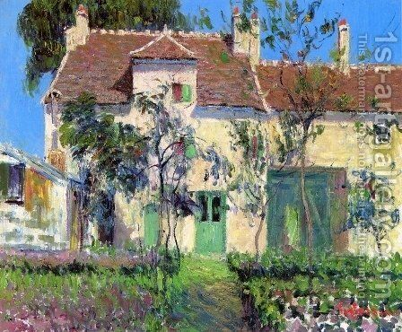 The Garden Behind the House by Gustave Loiseau - Reproduction Oil Painting