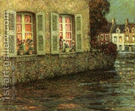 Windows by Henri Eugene Augustin Le Sidaner - Reproduction Oil Painting