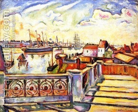 The Port of Anvers by Emile-Othon Friesz - Reproduction Oil Painting