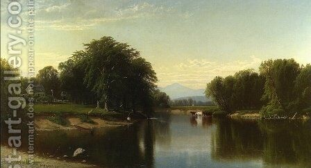Saco River, New Hampshire by Alfred Thompson Bricher - Reproduction Oil Painting