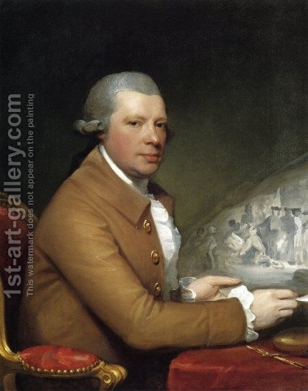 John Hall by Gilbert Stuart - Reproduction Oil Painting