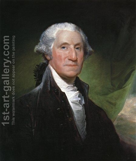 George Washington (The Gibbs-Channing-Avery Portrait) by Gilbert Stuart - Reproduction Oil Painting