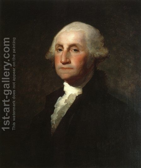 George Washington V by Gilbert Stuart - Reproduction Oil Painting