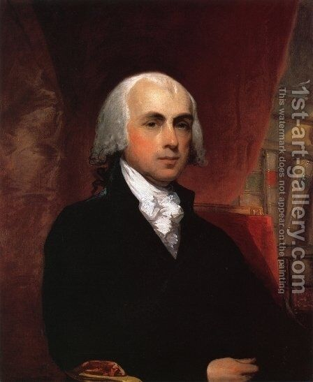 James Madison by Gilbert Stuart - Reproduction Oil Painting