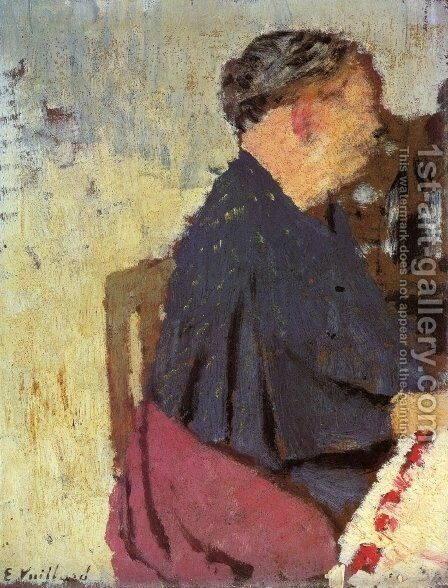 My Mother by Edouard  (Jean-Edouard) Vuillard - Reproduction Oil Painting