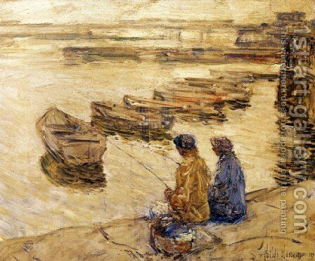 Fishing by Frederick Childe Hassam - Reproduction Oil Painting
