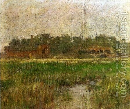 Creek at Low Tide by Theodore Robinson - Reproduction Oil Painting