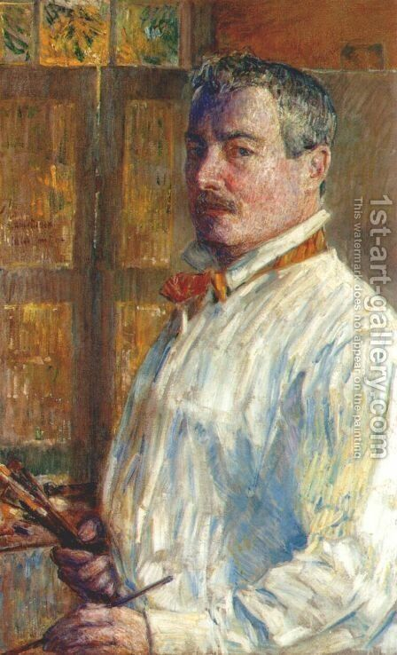 Self Portrait by Frederick Childe Hassam - Reproduction Oil Painting