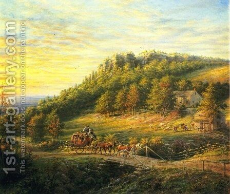 Bear Hill by Edward Lamson Henry - Reproduction Oil Painting