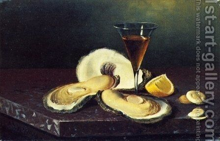 Still Life with Oysters by Andrew John Henry Way - Reproduction Oil Painting