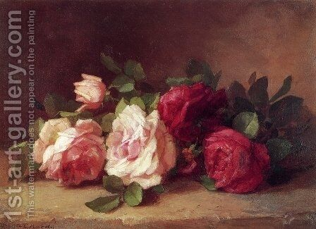 Roses by Anna Eliza Hardy - Reproduction Oil Painting