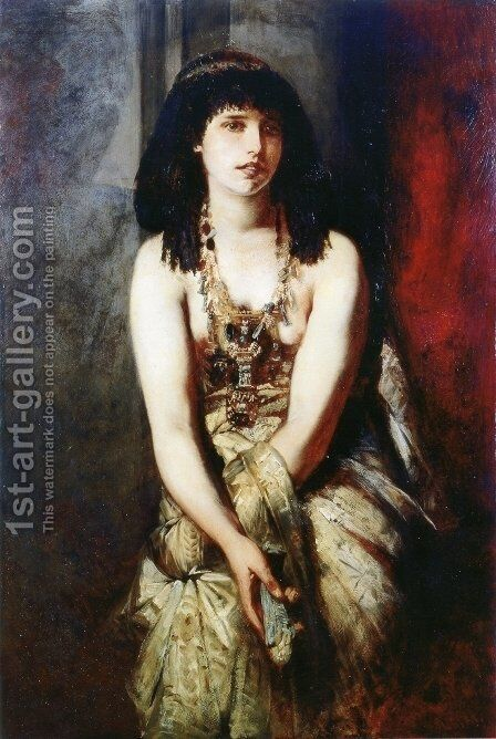 An Egyptian Princess by Hans Makart - Reproduction Oil Painting