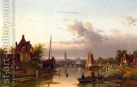 Near Haarlem by Charles Henri Leickert - Reproduction Oil Painting