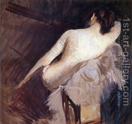 "Study for ""The Venetian Bind"" by Edmund Charles Tarbell - Reproduction Oil Painting"