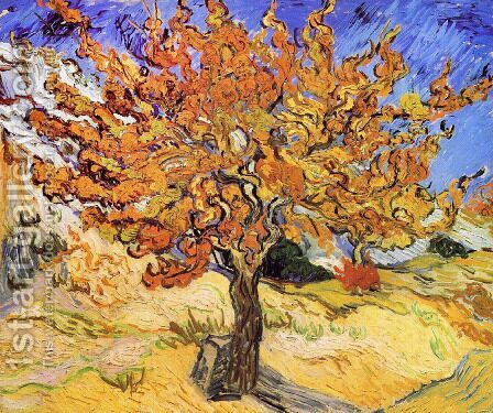 Mulberry Tree by Vincent Van Gogh - Reproduction Oil Painting