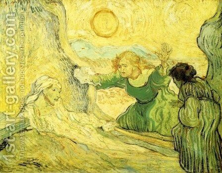 Raising of Lazarus (after Rembrant) by Vincent Van Gogh - Reproduction Oil Painting