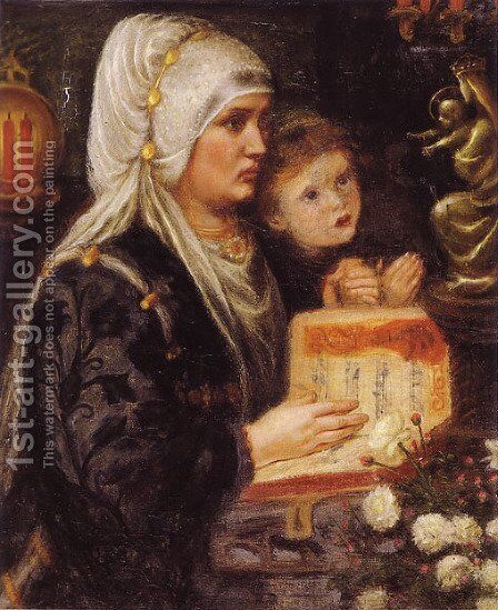 The Two Mothers by Dante Gabriel Rossetti - Reproduction Oil Painting