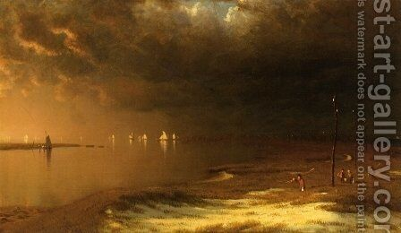 The Mouth of the Shrewsbury River by Sanford Robinson Gifford - Reproduction Oil Painting