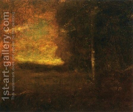 Sunset Landscape I by George Inness - Reproduction Oil Painting