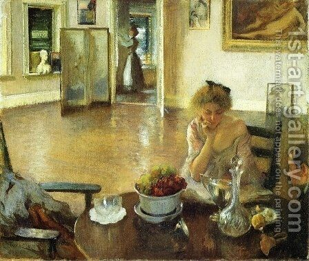 The Breakfast Room by Edmund Charles Tarbell - Reproduction Oil Painting