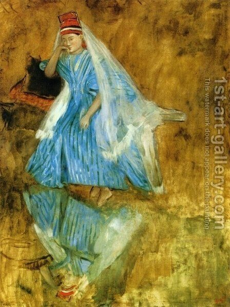 "Mademoiselle Fiocre in the Ballet ""The Source"" (study) by Edgar Degas - Reproduction Oil Painting"