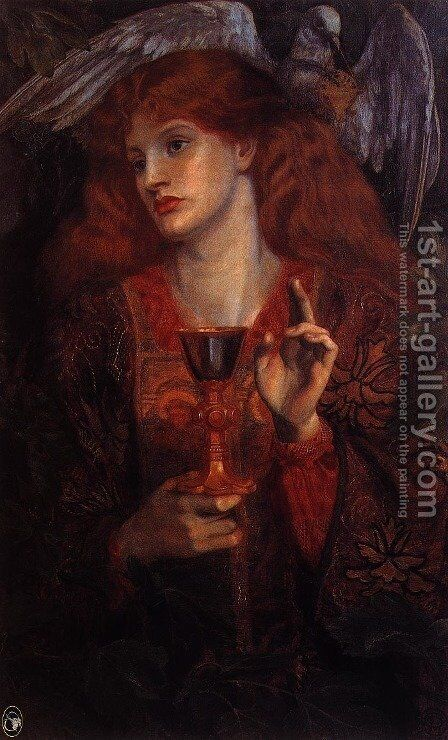 The Damsel of the Sanct Grael I by Dante Gabriel Rossetti - Reproduction Oil Painting