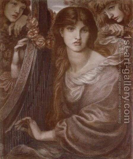 La Ghirlandata I by Dante Gabriel Rossetti - Reproduction Oil Painting