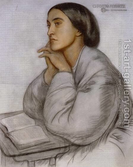 Christina Rossetti by Dante Gabriel Rossetti - Reproduction Oil Painting