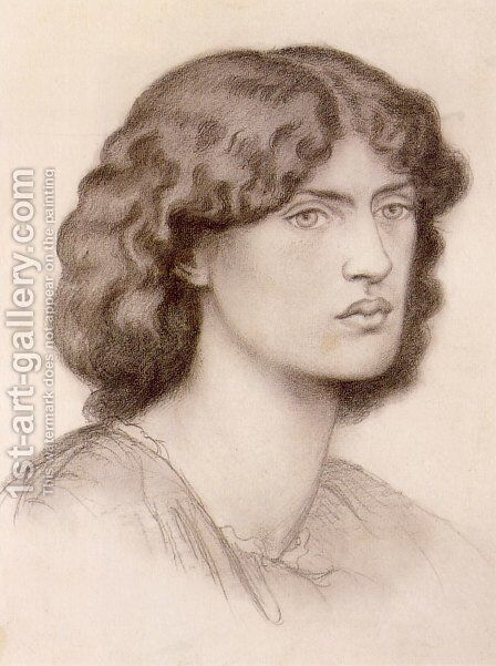 Jane Morris I by Dante Gabriel Rossetti - Reproduction Oil Painting