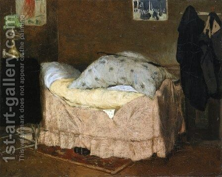 The Pink Bed by Henri-Jacques Evenepoel - Reproduction Oil Painting