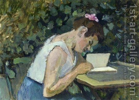 Woman Reading in a Garden by Henri Matisse - Reproduction Oil Painting
